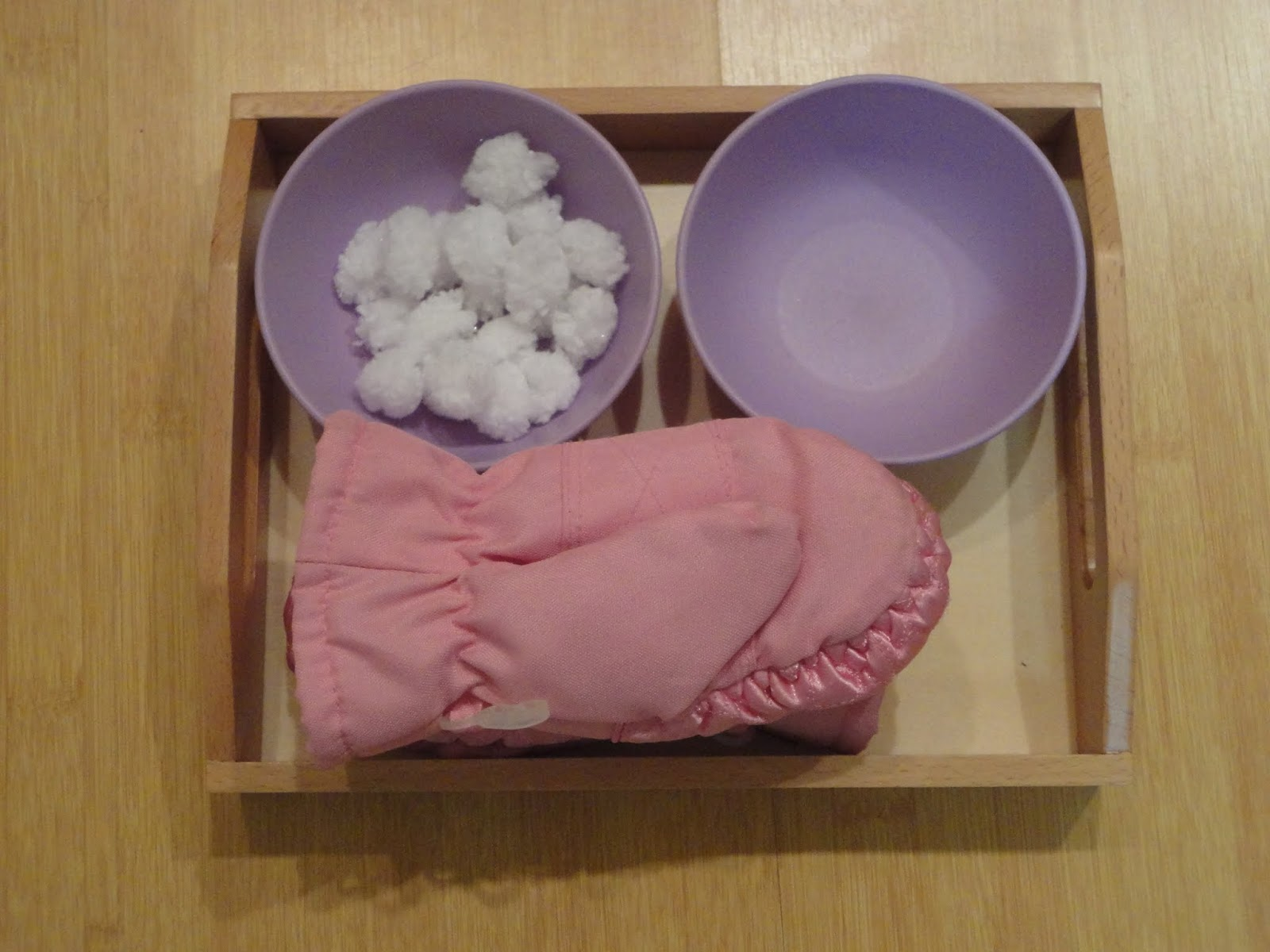 Montessori Monday Snow Trays