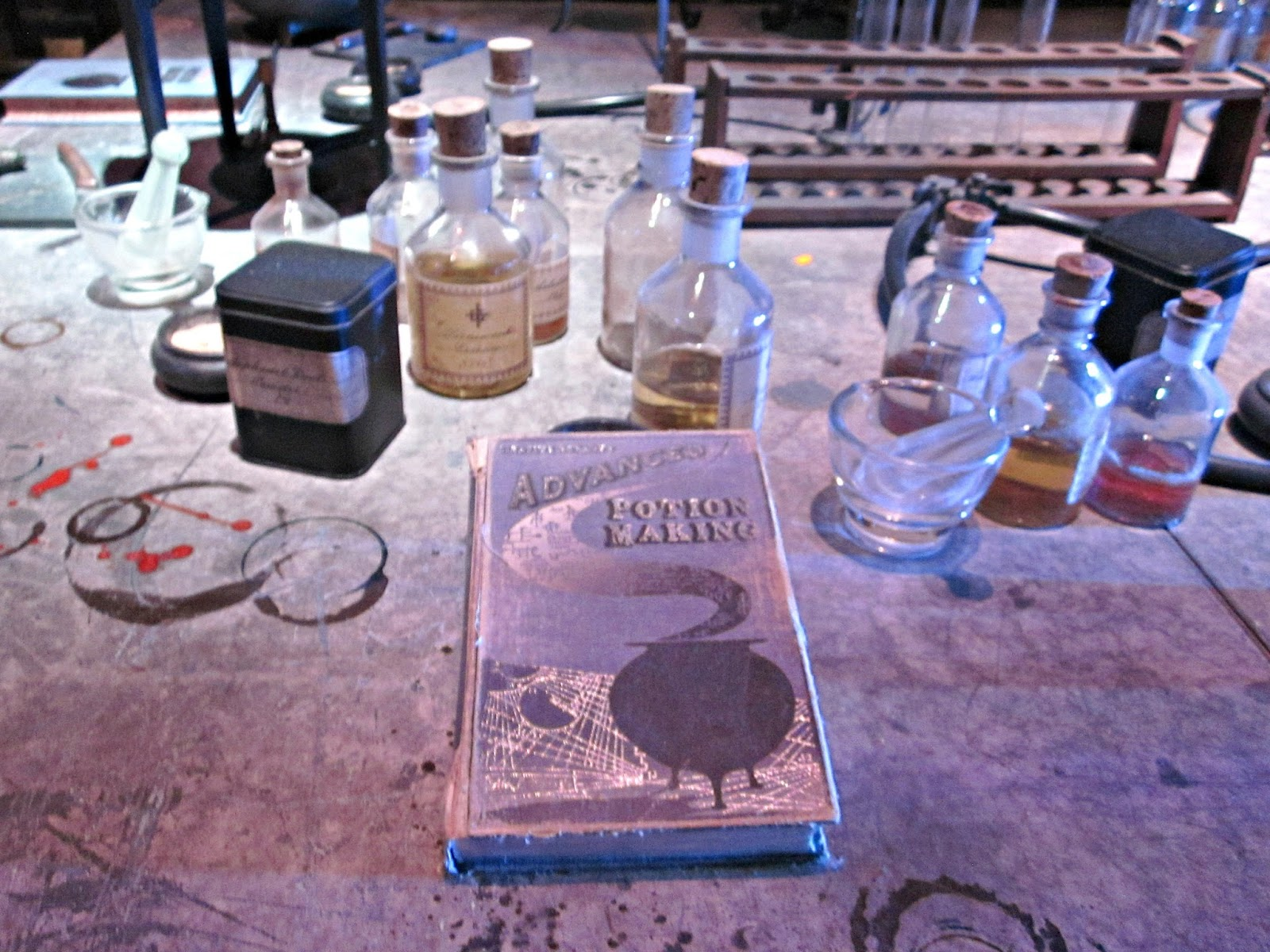 Advcanced Potion Making book at The Making Of Harry Potter Warner Brothers Studio Tour