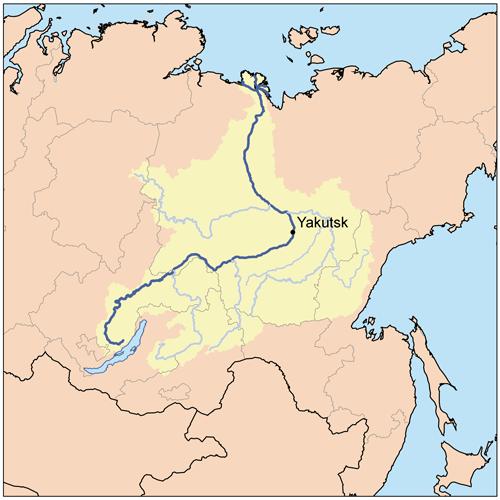 Yenisei River Map Lena River | Geology P...