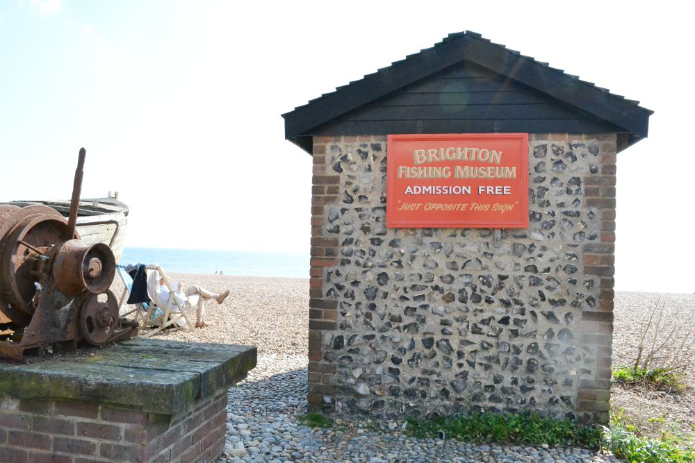brighton fishing museum sign building beach