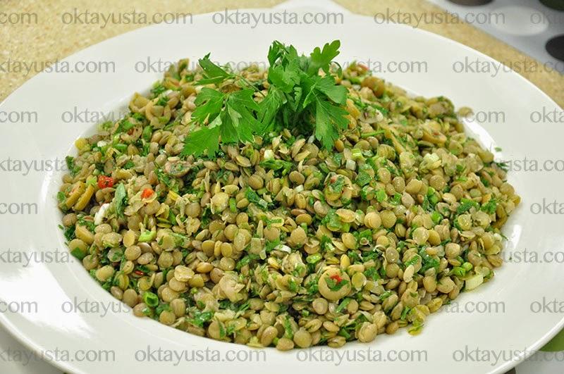 Yeşil Mercimek Salatası Tarifi Kolay Yapımı