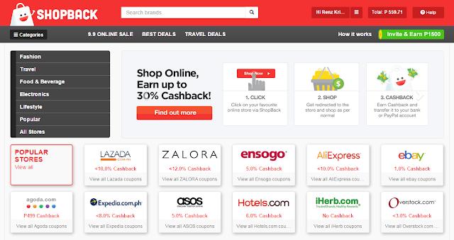 Shopback Rebates Philippines