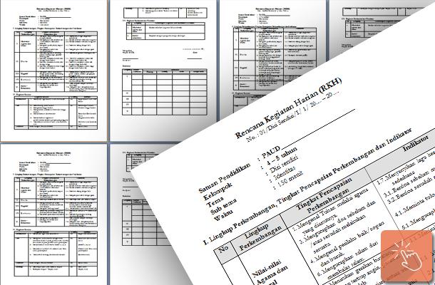 Rencana Kegiatan Harian (RKH) PAUD Kelompok Usia 4 - 5 Tahun