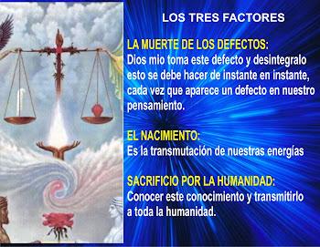 LOS TRES FACTORES EN PRACTICA
