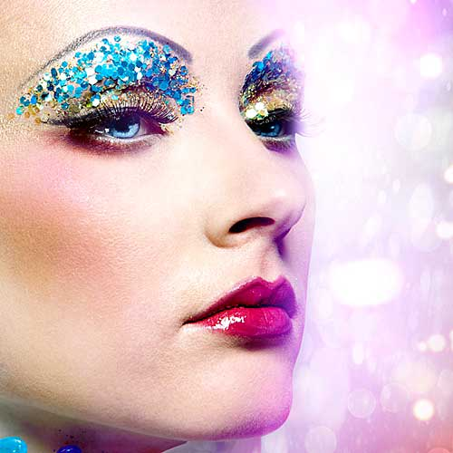 maquillaje glitter carnaval ultimo minuto