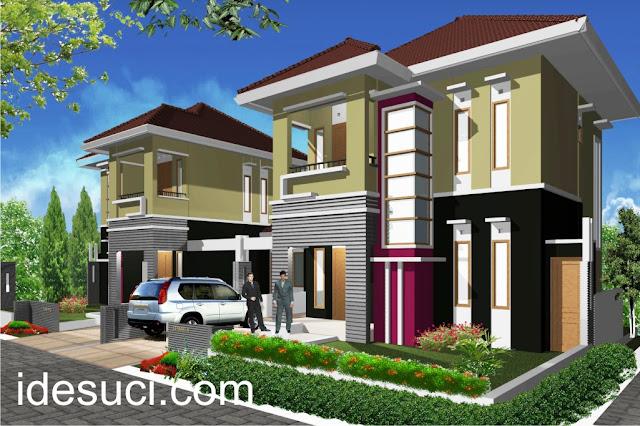 Desain rumah minimalis 2 lantai tipe 100