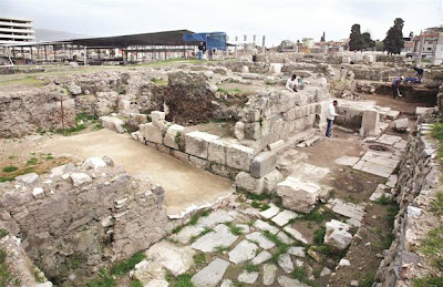 Main street revealed in agora of Smyrna