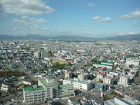 Hakodate city as seen from Goryokaku Tower