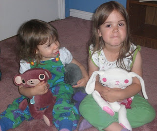 My kids with their Lilikin &amp; Friends stuffed animals.
