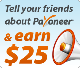 Earn 25$ by Signup on Payoneer