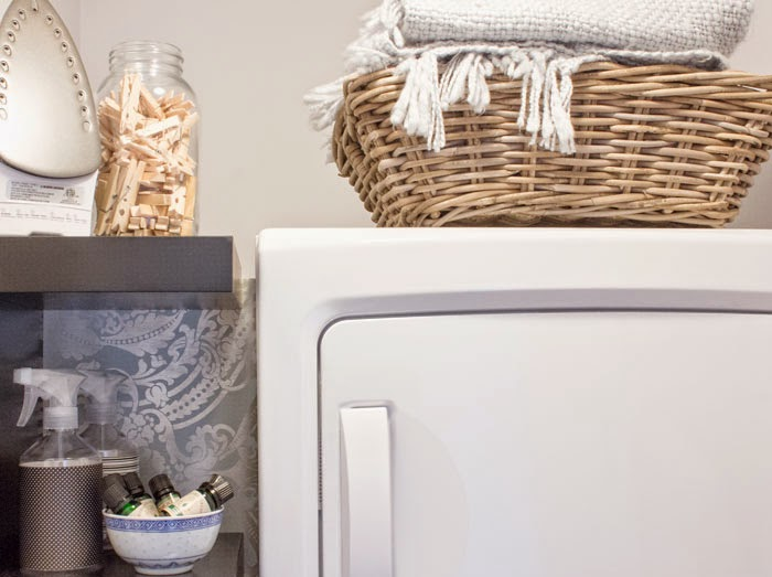 small laundry closet organization