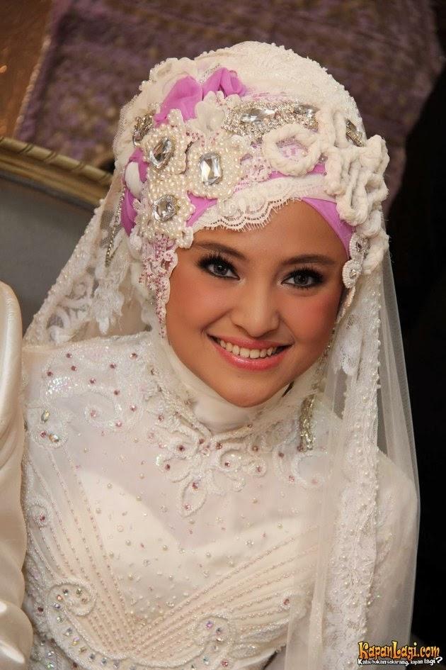 jilbab pernikahan marshanda