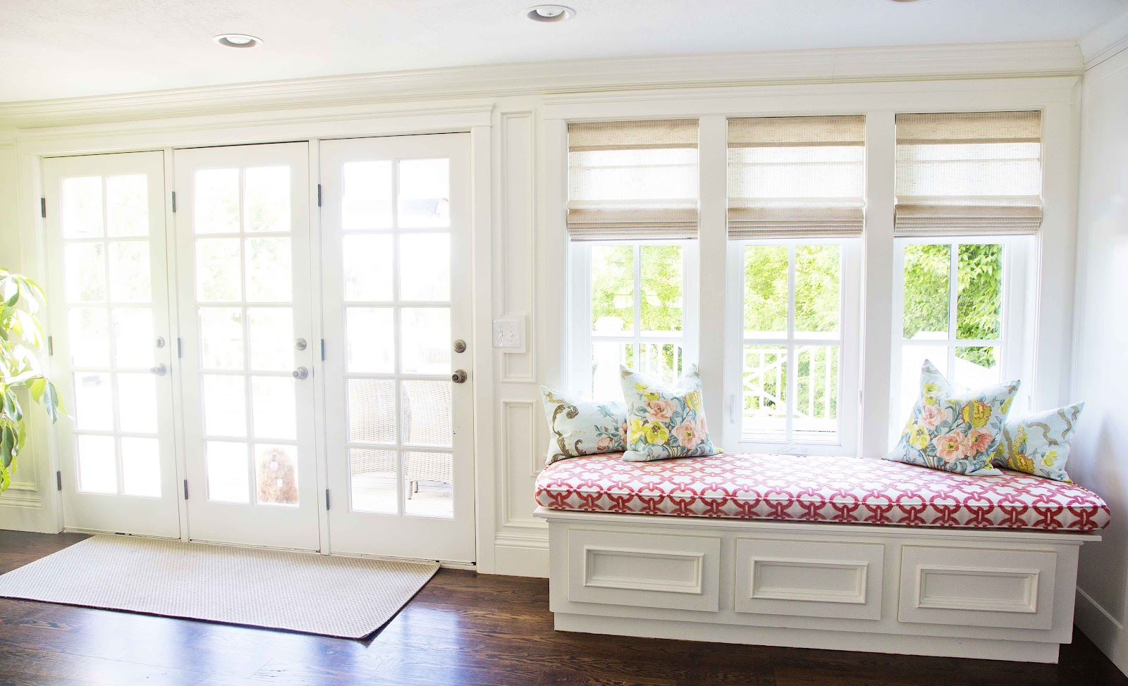 White Window Bench Seat