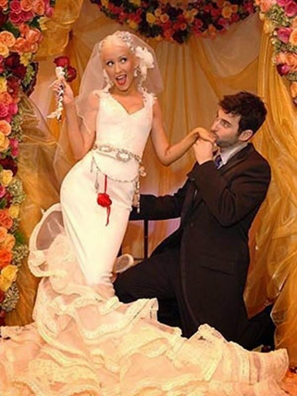 vestidos de novia boda Christina Aguilera hermanas bolena