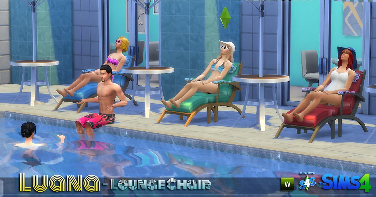 Lunararc sims luana lounge chair for Sims 4 balcony