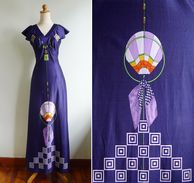 vintage hot air balloon dress