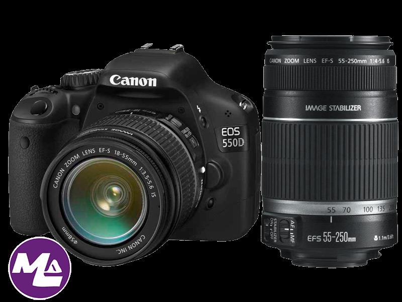كانون Canon 550D – يطلق عليها أيضا إسم Rebel T2i