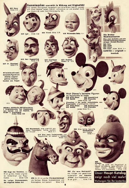 Page 8 of Karneval  katalog from 1955 - Einzinger & Co. Munchen  - masks