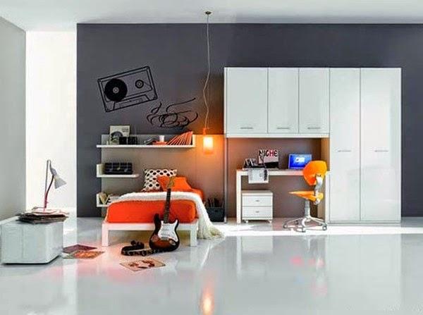 Desain Kamar Tidur Bertema Musik Rumah Minimalis Sederhana