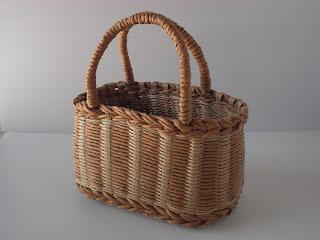 エコクラフトで作る まいにちのバッグとかご P23 ラタンのかごバッグ