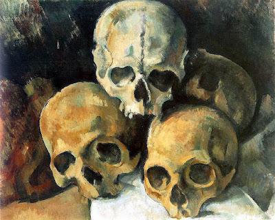 Pyramid of Skulls by Paul Cézanne (1901)