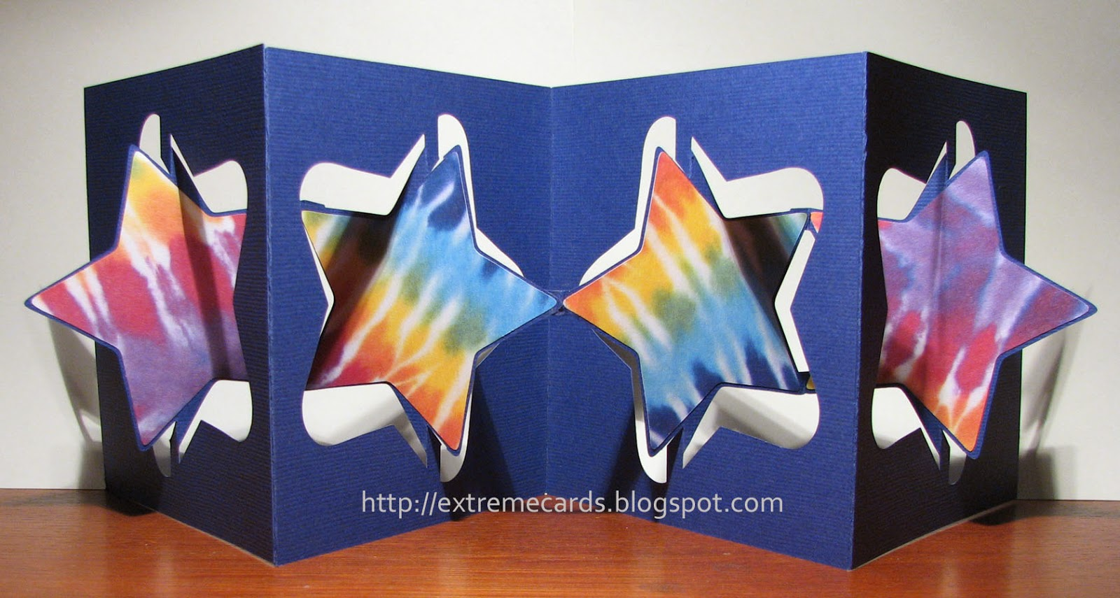 3d star accordion flip card