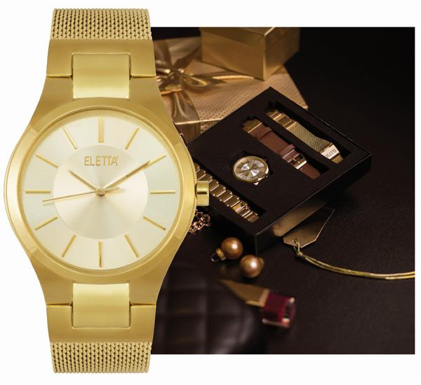 8626e586f59 Brilhos da Moda  Relógio Eletta Icon