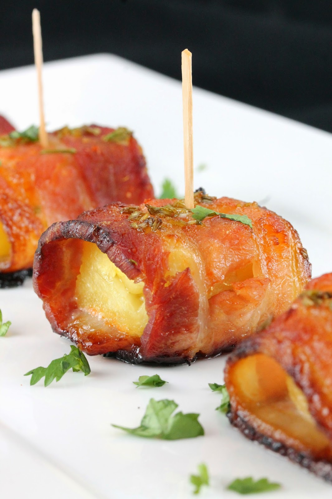 bacon wrapped pineapple bites recipe yummly bacon wrapped pineapple ...
