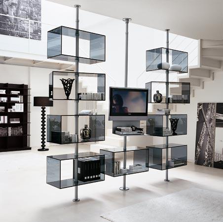 Separadores de espacios y ambientes divisi n de sala y - Muebles separadores de espacios ...