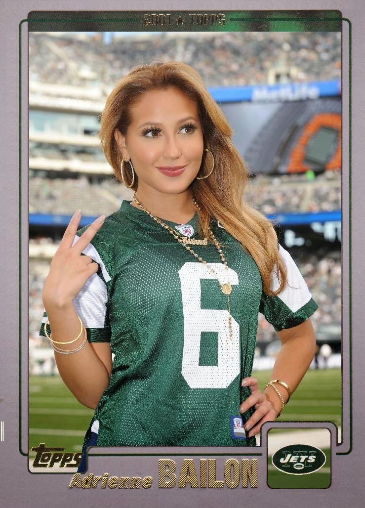 5827899f579 ... song-writing, dancing acting and more., She is sporting a Mark Sanchez  jersey on her Celebrity Jersey Card, but we will not criticize her for that.