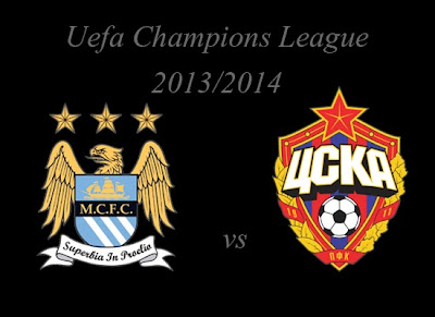 Champions League Group Stage Manchester City vs CSKA Moskva 2013