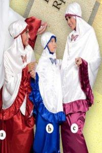 Mukena Dewasa Tatuis Tiara 024 A - Marun Dan Ungu (Toko Jilbab dan Busana Muslimah Terbaru)