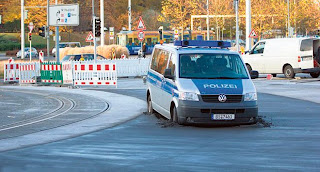 funny picture of German police car