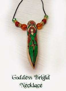 Goddess Brigid Necklace from MoonsCrafts