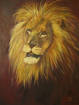 """Crown of Courage"" a lion portrait"