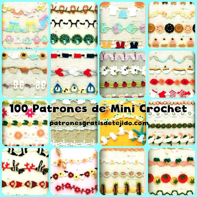 100 patrones gratis de mini crochet para descrgar