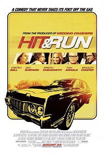 Hit and Run Movie 2012 Theatrical Release Poster