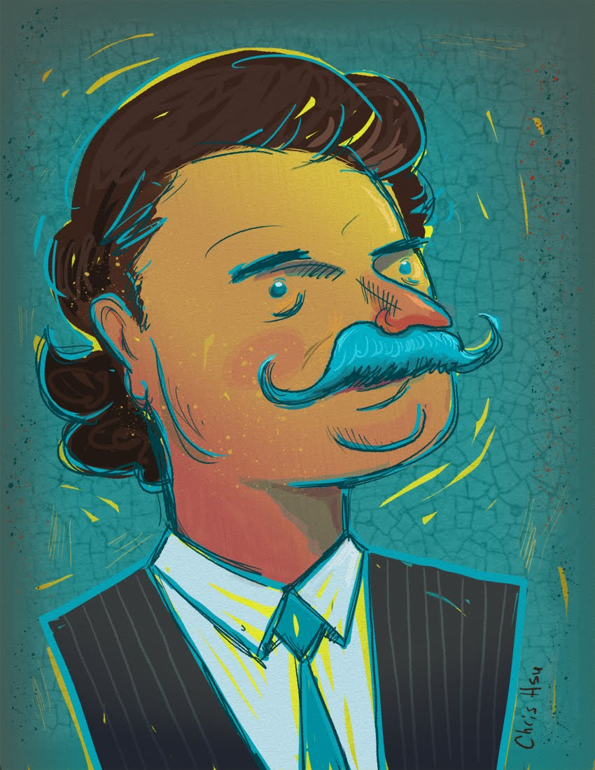 Shad Khan illustration by Chris Hsu