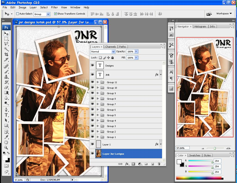 Cara Edit Foto Dalam Foto 11 - Grup Layer