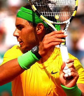 Rafael Nadal joue avec la montre Richard Mille RM 027