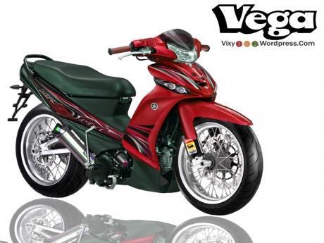 Modifikasi Sepeda Motor Yamaha Vega R ban Lebar