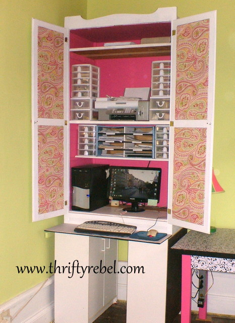 Awesome Diy Armoire Makeover  Houses Plans  Designs