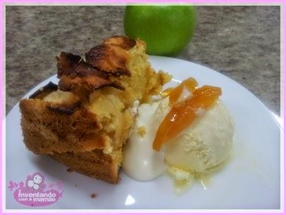 bolo de maçã verde