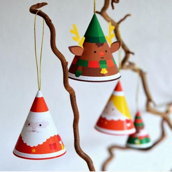 Adornos navide os en papel f ciles de hacer lodijoella for Adornos navidenos de papel