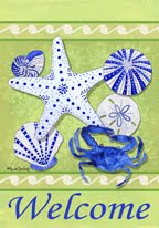 Seashells Garden Flag