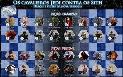Jogo de Xadrez de Star Wars - Coleção 2 - Personagens da segunda trilogia da Série Guerra nas Estrelas