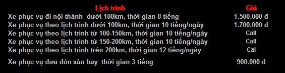 Giá Cho thuê xe 16 chỗ Mercedes Sprinter tại Hà Nội