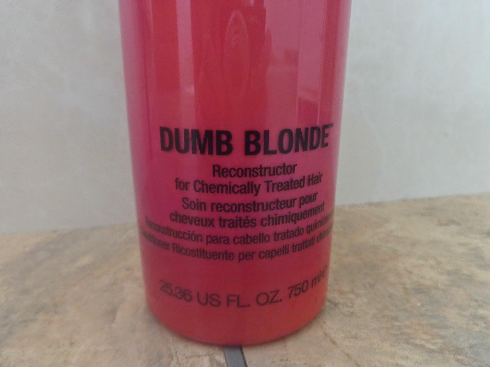 tigi bed head dumb blonde review