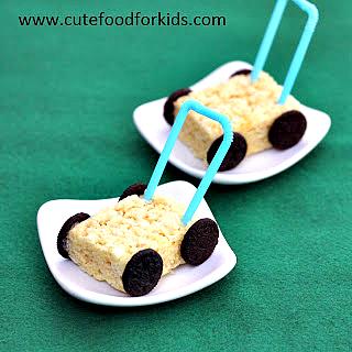 kids snacks, Rice Krispies, food art