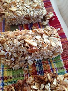 coconut almond apricot granola bars